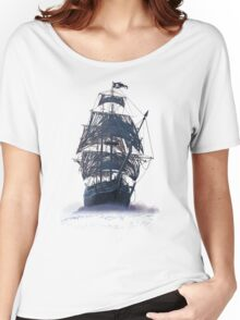 Ghost Pirate Ship at Night Women's Relaxed Fit T-Shirt