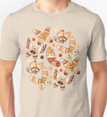 Earth Toned Watercolor Butterflies  Slim Fit T-Shirt