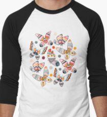 Pastel Watercolor Butterflies  Baseball ¾ Sleeve T-Shirt