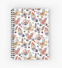Pastel Watercolor Butterflies  Spiral Notebook