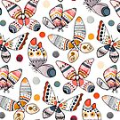 Pastel Watercolor Butterflies  by TigaTiga