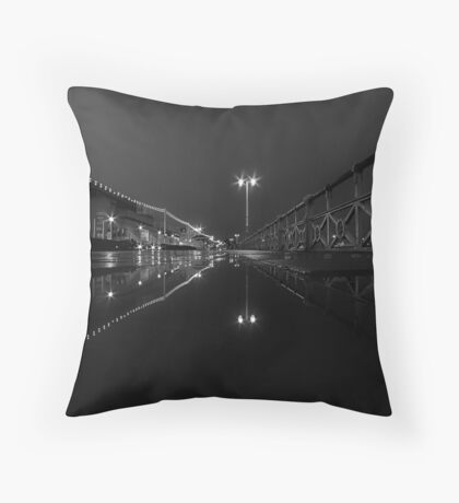 A Street At Night Throw Pillow