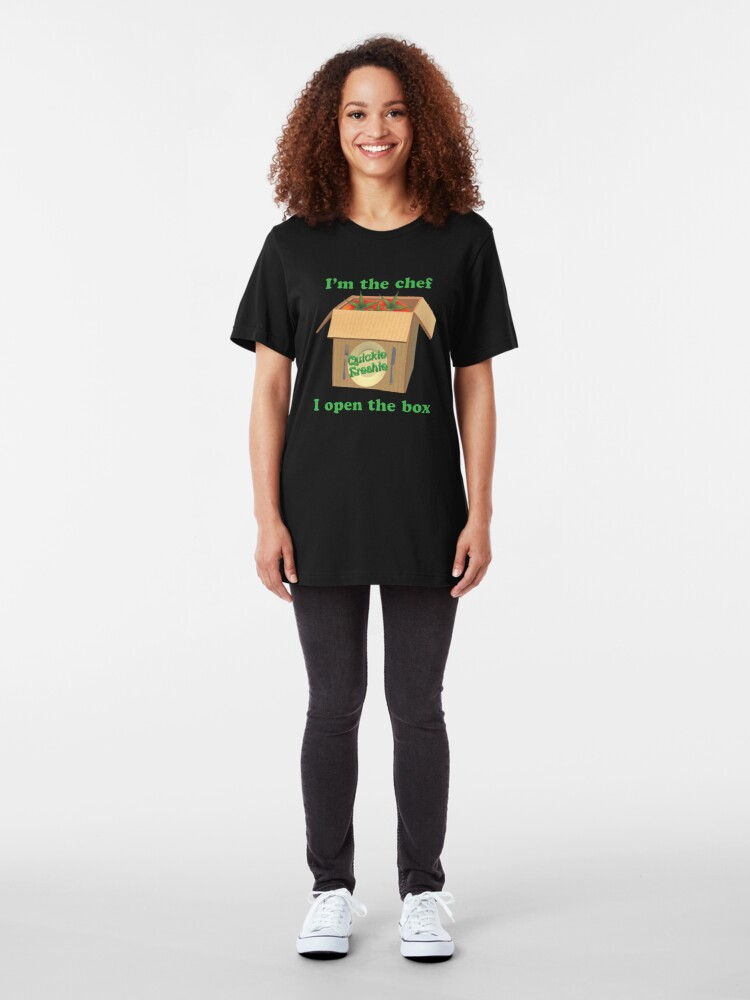 Alternate view of Boxed Meals. Cooking in the 21st Century. Slim Fit T-Shirt