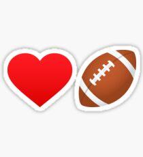 Love football! Sticker