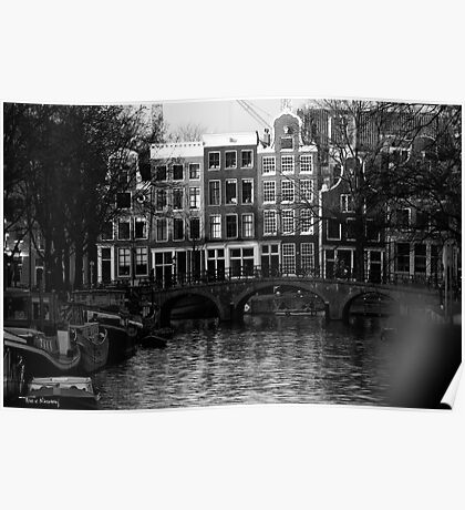 Amsterdam at the Canal Poster