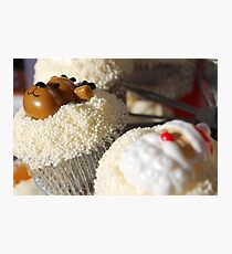 Christmas Cup Cakes Photographic Print