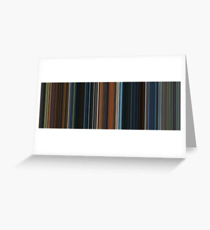 Moviebarcode: The Lord of the Rings: The Fellowship of the Ring (2001) [Simplified Colors] Greeting Card