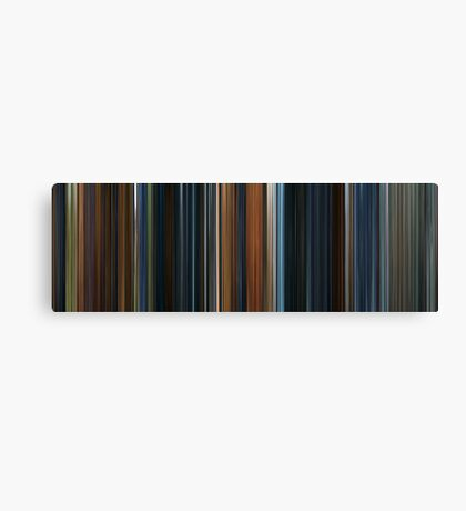 Moviebarcode: The Lord of the Rings: The Fellowship of the Ring (2001) Canvas Print
