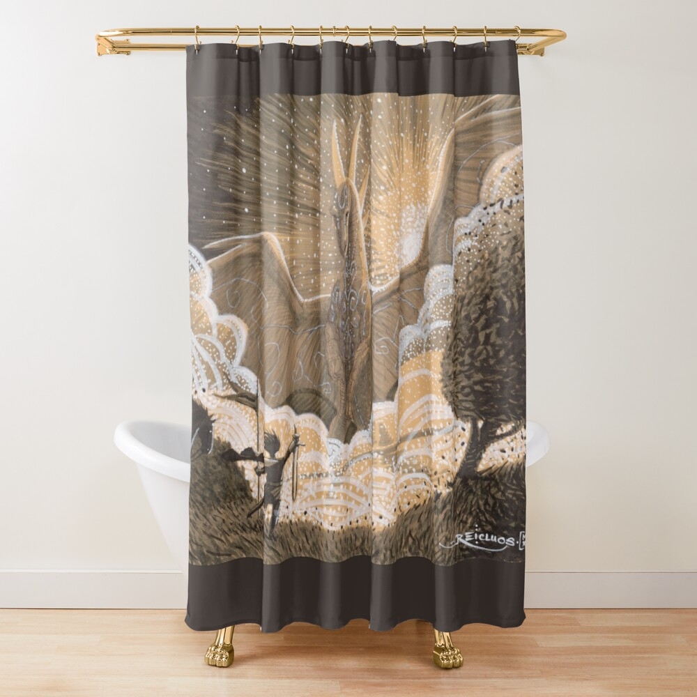 The Return of the Great Dragon Shower Curtain