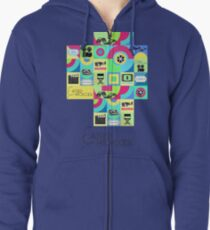 Alfred Hitchcock, pattern Zipped Hoodie
