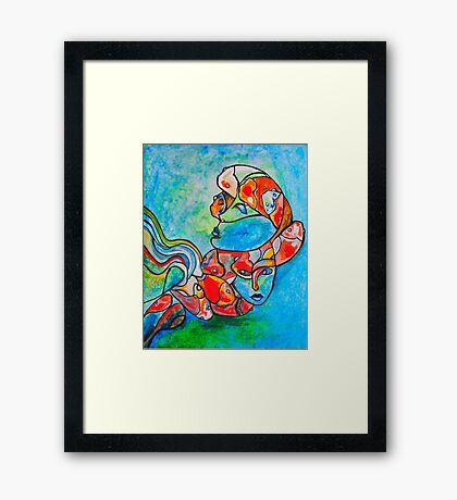 Water Souls Framed Print