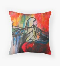 Chasing The Rain Throw Pillow