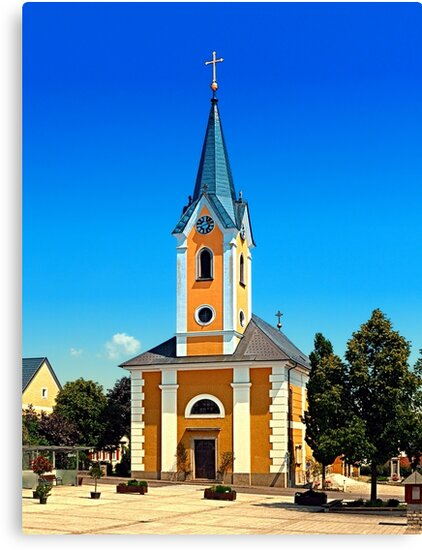 The village church of Alberndorf in der Riedmark by Patrick Jobst