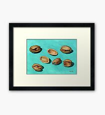stash of pistachios Framed Print