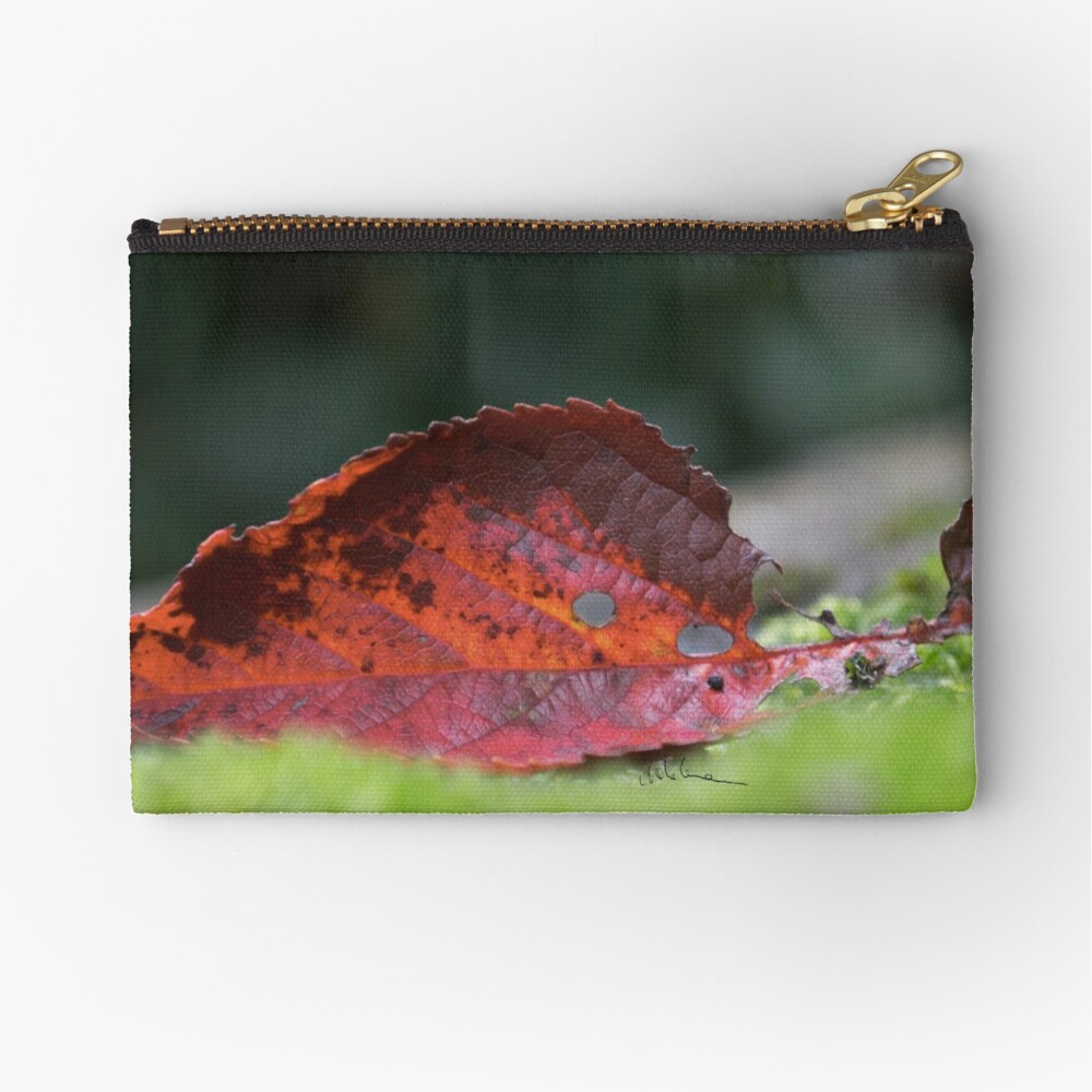 Leaf and moss Zipper Pouch