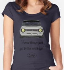 Ford Escort MK1 T-Shirt Women's Fitted Scoop T-Shirt