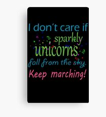 Marching band i dont care if sparkly unicorns Canvas Print