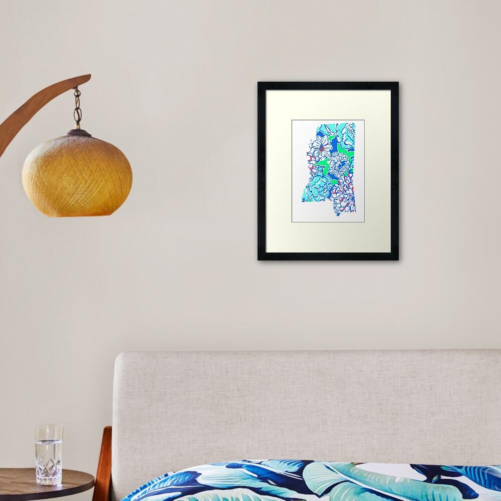 Lilly States - Mississippi Framed Art Print