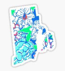 Lilly States - Rhode Island Sticker