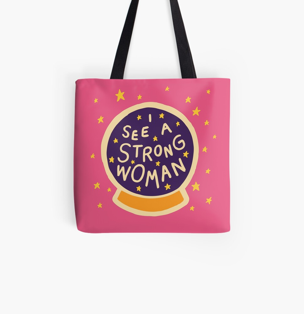 I see a strong woman All Over Print Tote Bag