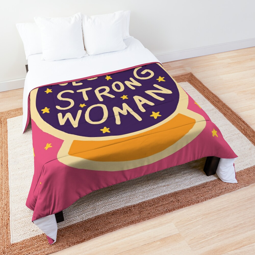 I see a strong woman Comforter