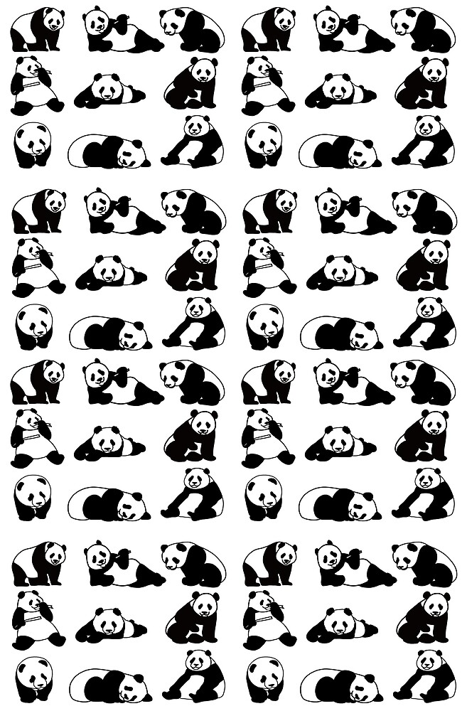 Pandas galore by Quick2Draw