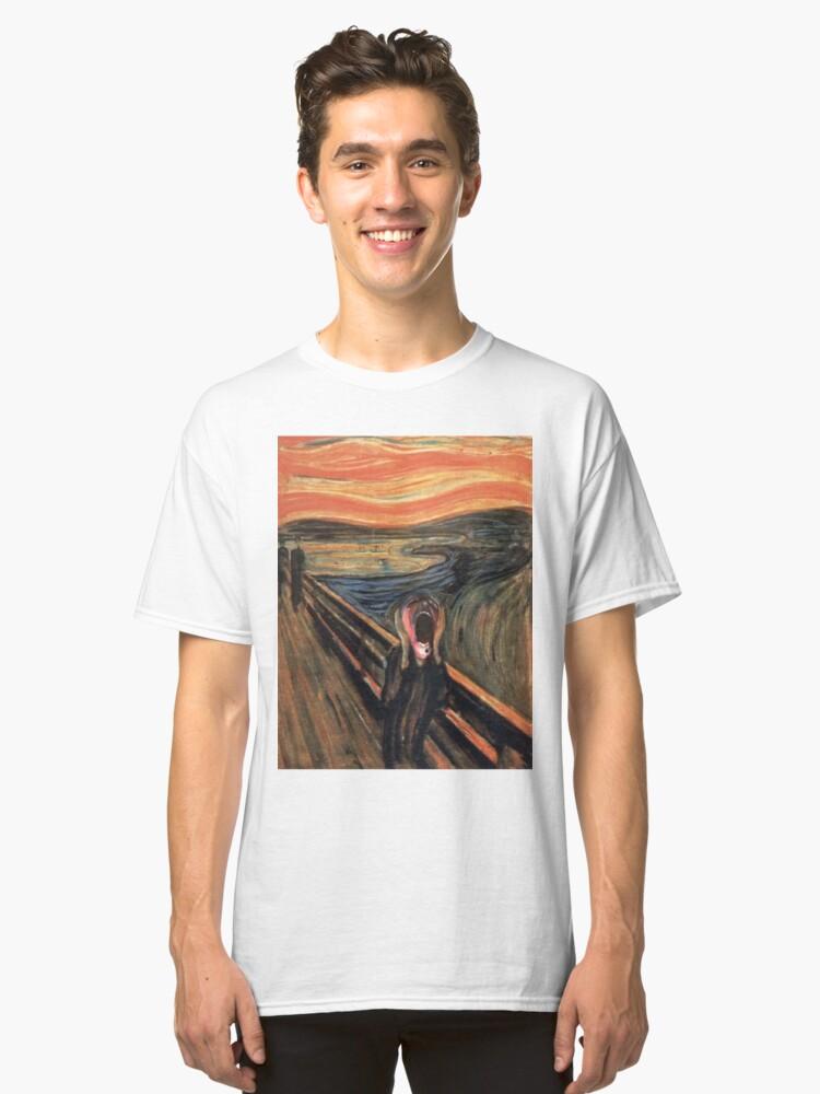 Alternate view of pink scream Classic T-Shirt