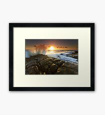 The Sea Is Mighty Framed Print