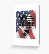 Honor Them-Marines Greeting Card