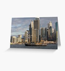 History on the Harbour Greeting Card