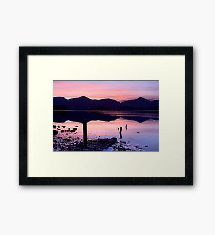 Derwentwater winter sunset - The Lake District Framed Print