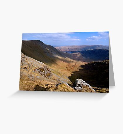 Riggindale from High Street - The Lake District Greeting Card