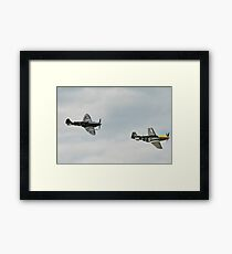 Spitfire and Mustang fighters planes Framed Print