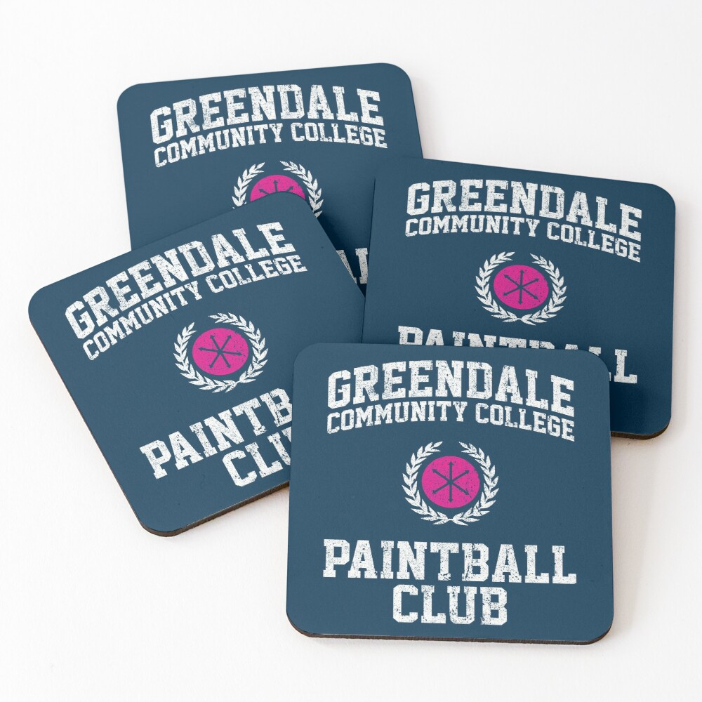 Greendale Community College Paintball Club Coasters (Set of 4)