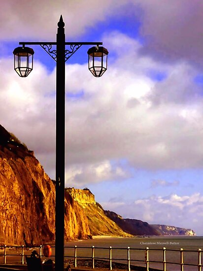 Lamp Along the Seafront by Charmiene Maxwell-Batten