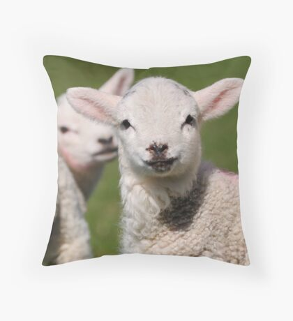 Looking on Throw Pillow