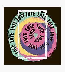 Love. Typography, t-shirt graphics, vectors Photographic Print