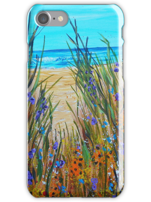 Beach flowers impressionism art ocean painting home for Beach house designs florist