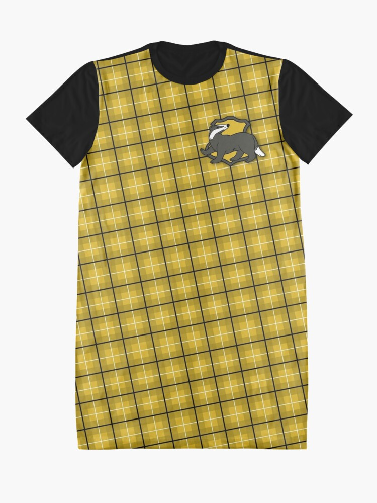 Alternate view of Badger House Plaid Graphic T-Shirt Dress