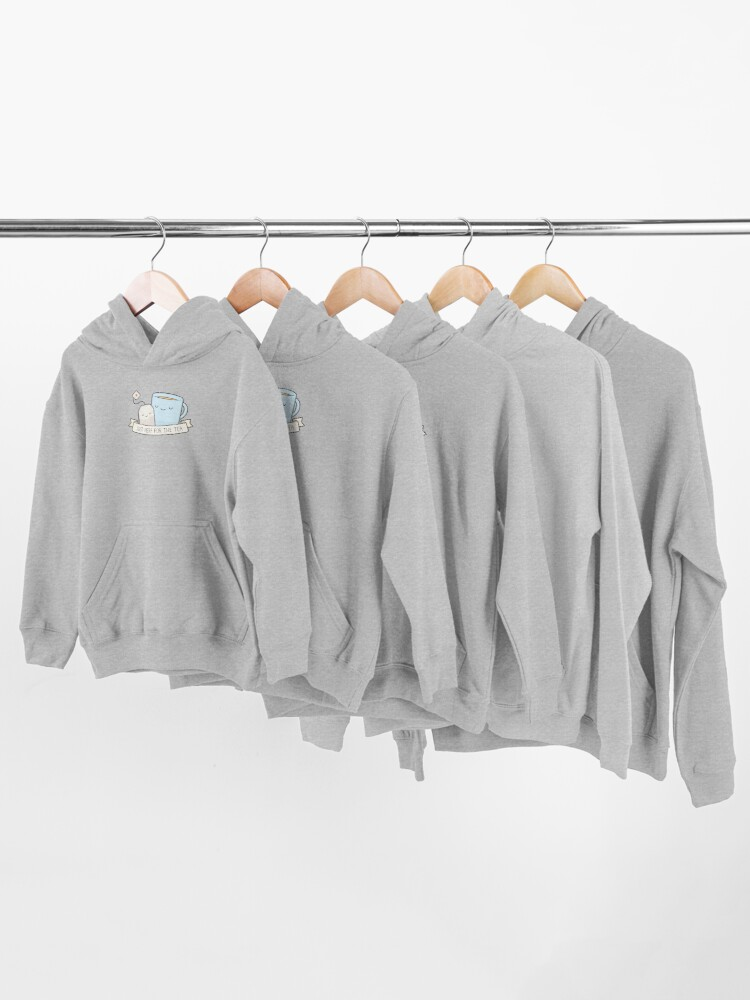 Alternate view of Just Here For The Tea Kids Pullover Hoodie