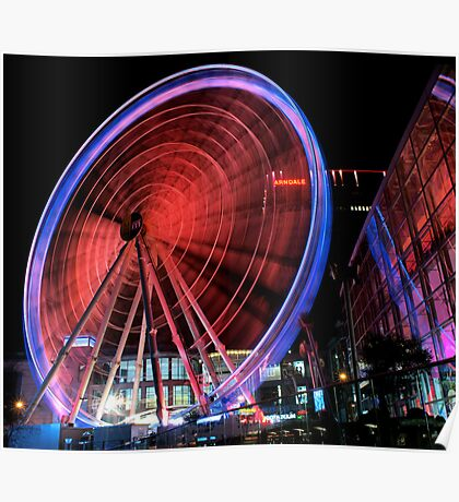 manchester wheel.. Poster
