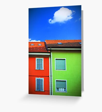 Colored walls and a cloud Greeting Card