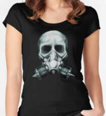 Gas mask Skull Women's Fitted Scoop T-Shirt