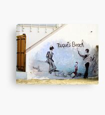 Touquet's beach. Mural, Le Touquet  Canvas Print