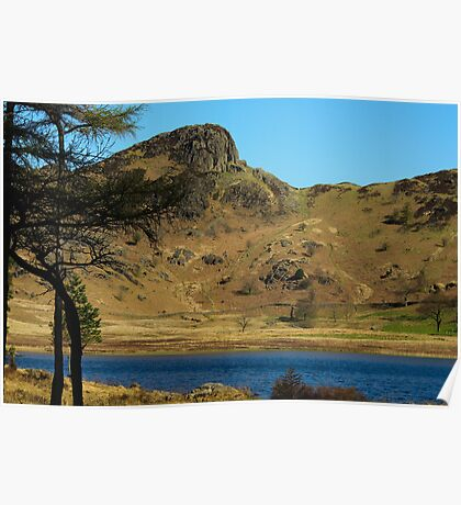 Blea Tarn towards Langdale Pikes Poster