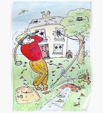 Crazy Golfer Poster