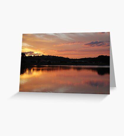 Golden Pink Greeting Card