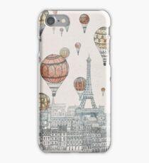Voyages Over Paris iPhone Case/Skin