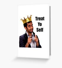 Treat Yo Self- Parks and Rec Greeting Card