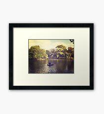 Central Park Row Boats Framed Print